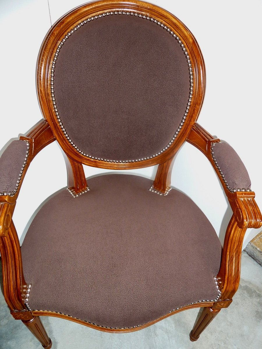 fauteuil cabriolet louis xi relooke la belle assise. Black Bedroom Furniture Sets. Home Design Ideas